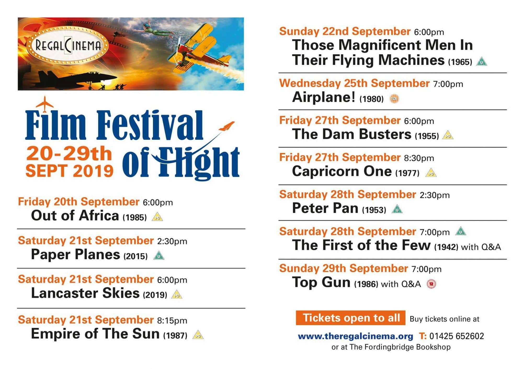 Fordingbridge film festival programme